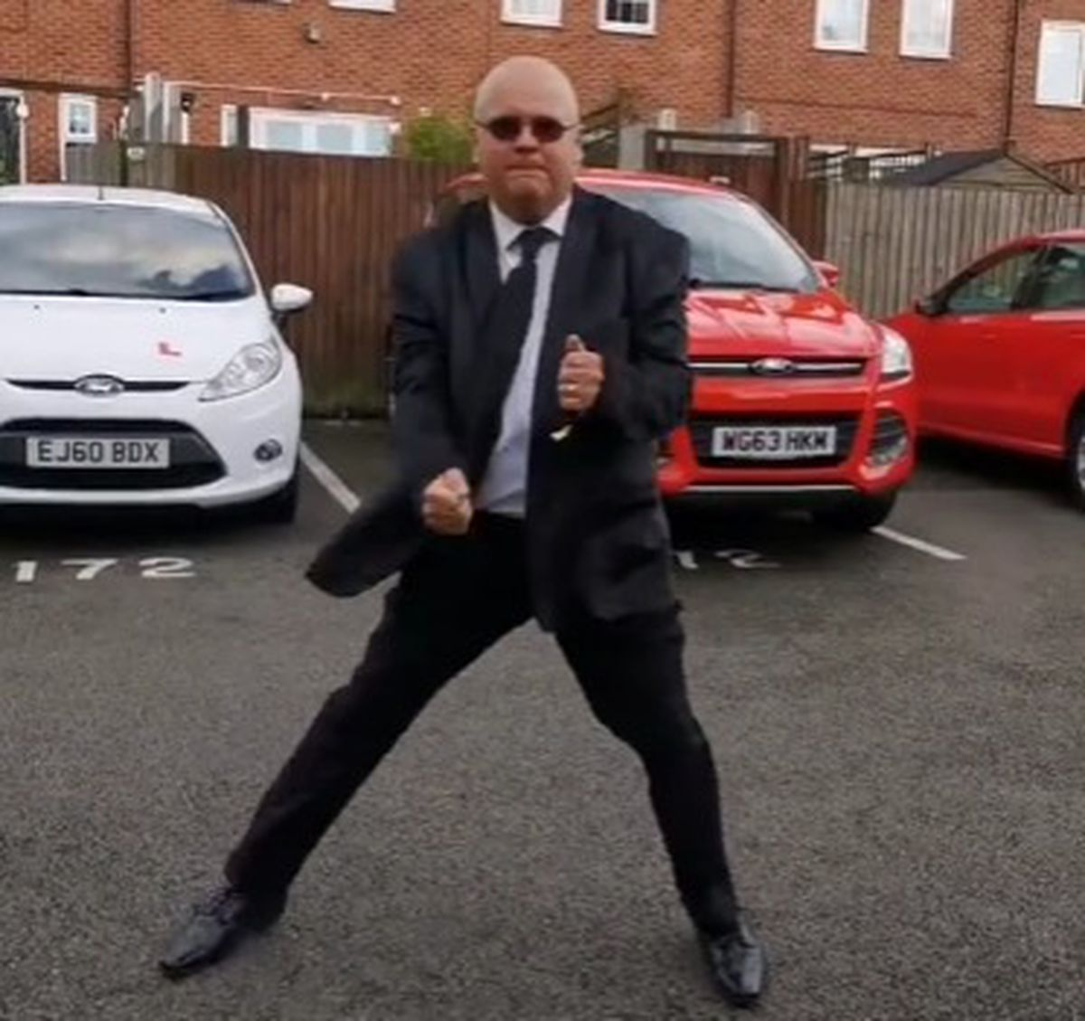Another video featured him dancing to Men in Black