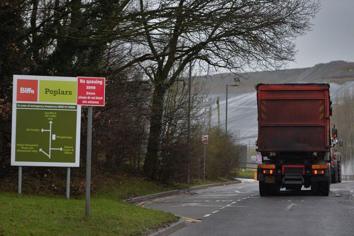 Biffa Poplars landfill, Lichfield Road, Cannock