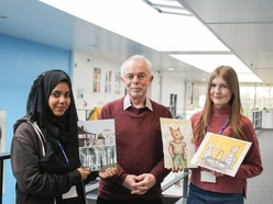 Students win competition to illustrate book