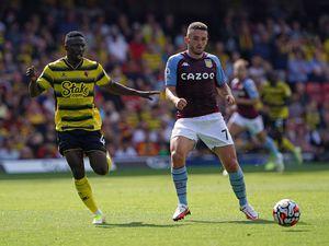 Watford's Peter Etebo (left) and Aston Villa's John McGinn