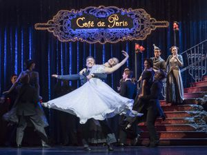 Andrew Monaghan 'Harry', Ashley Shaw 'Cinderella' and the company. Photo by Johan Persson