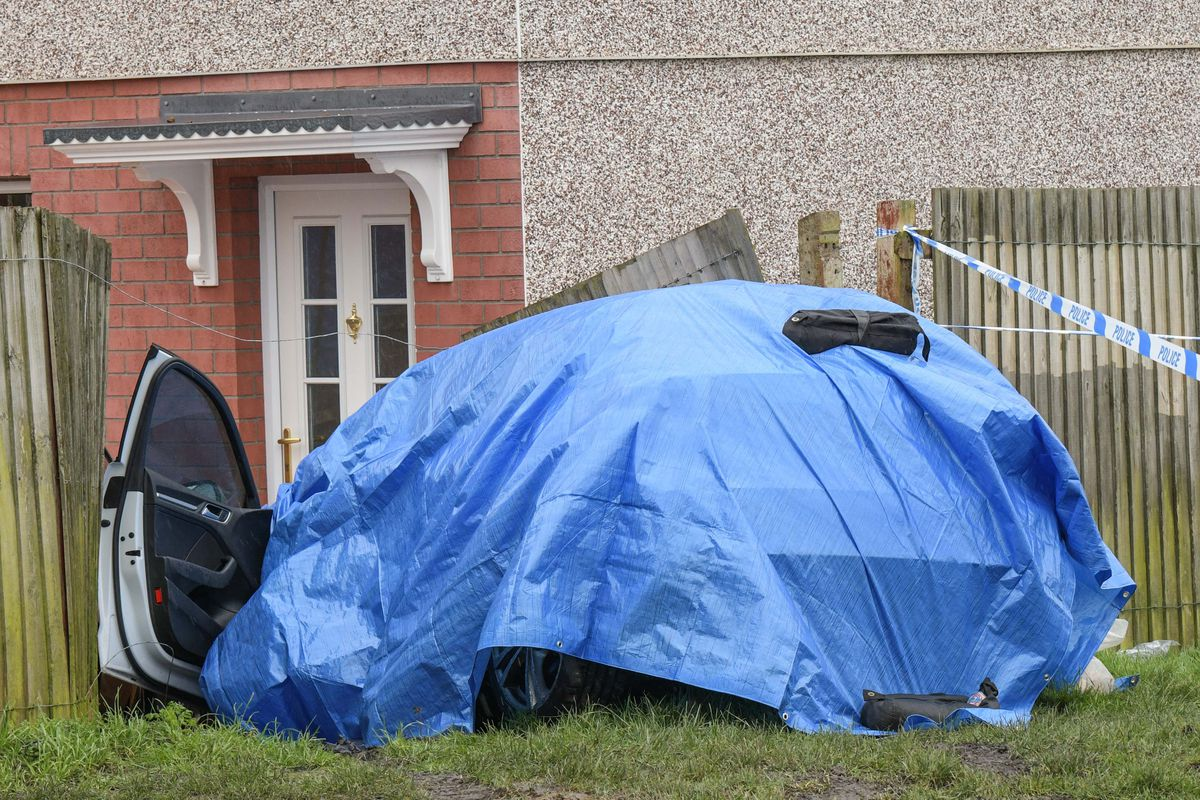 A car appeared to have crashed on Wilson Road. Photo: SnapperSK