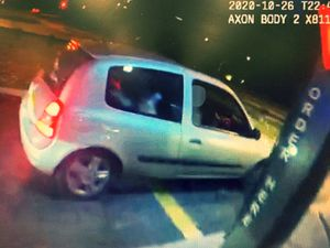 Officers saw this car speeding which was allegedly being driven by a 15-year-old. Photo: WMP Traffic