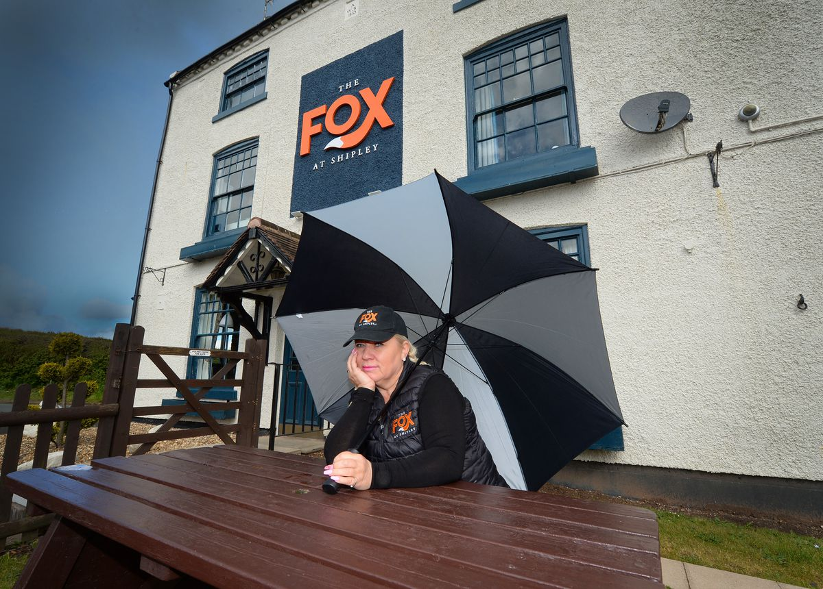 Landlord Kerry Brummell of The Fox at Shipley