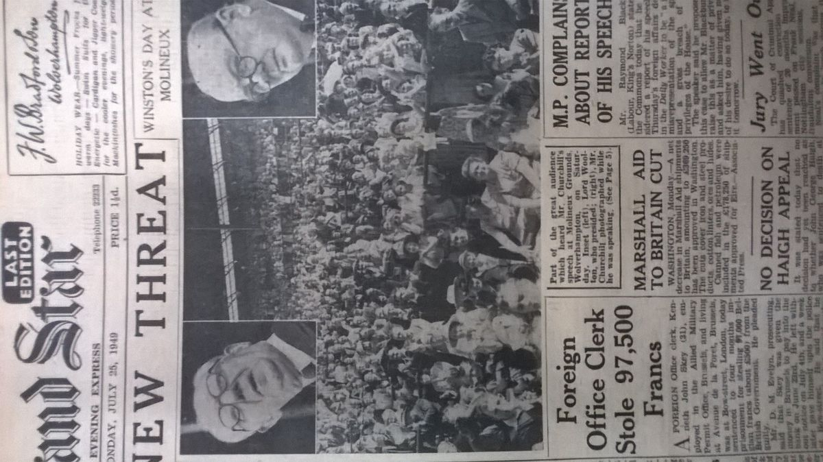 How the Express & Star reported Churchill's viist