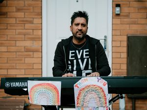 Ranesh Bhutta from Oldbury is a self taught pianist who has dedicated Somewhere Over The Rainbow outside his home for Clap for Careres and the NHS on Thursday evenings