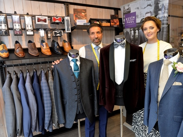 Staffordshire suit shop bouncing back in style