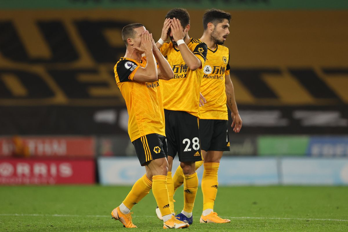 Daniel Podence of Wolverhampton Wanderers reacts (AMA)