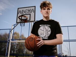 WOLVERHAMPTON COPYRIGHT EXPRESS & STAR JAMIE RICKETTS 04/04/2021 - Wolverhampton basketball club - SLAM Basketball Club / SLAM! Academy Scholars has a partnership with Wolverhampton College and is developing an elite basketball academy with a focus on education for Basketball and academic studies to help young people make the journey and look at the two together, with a focus on having them go to an American university. Run by Douaine Anderson who runs the scholarship alongside it. In Picture: Tristan Price 13.