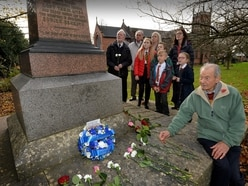 Wreaths laid to honour 22 who died in Pelsall colliery disaster
