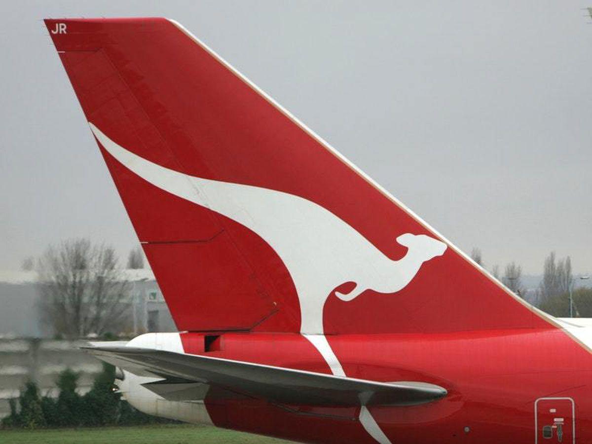 The tail of a Qantas plane