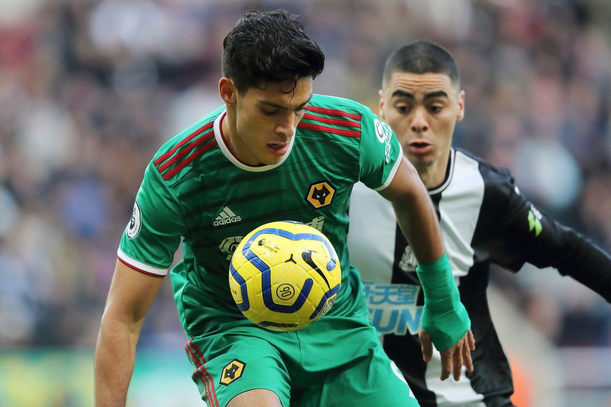 Raul Jimenez of Wolverhampton Wanderers and Miguel Almiron of Newcastle United (AMA)