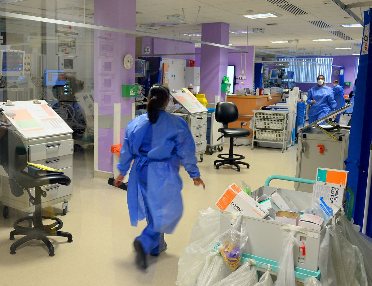 Inside the intensive care unit at New Cross Hospital