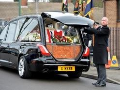 Guard of honour at funeral of Walsall war hero