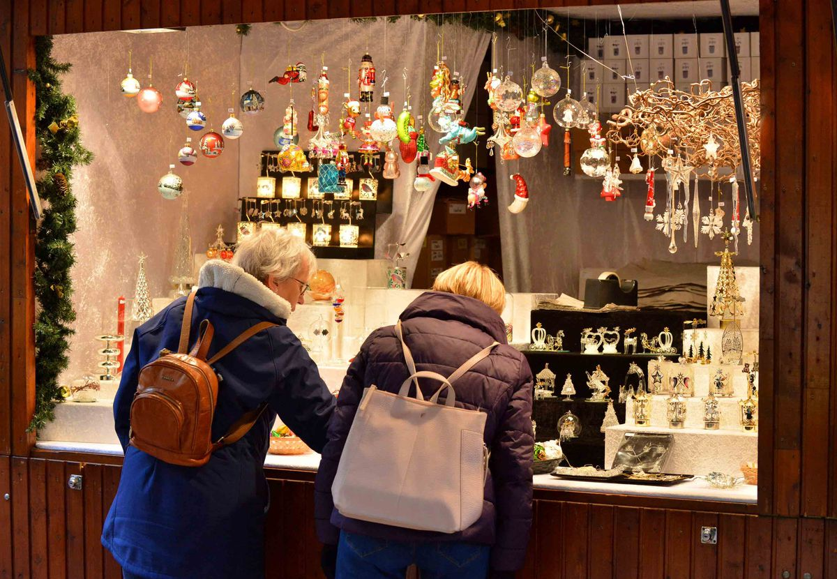 People were getting a closer look at the gifts on offer
