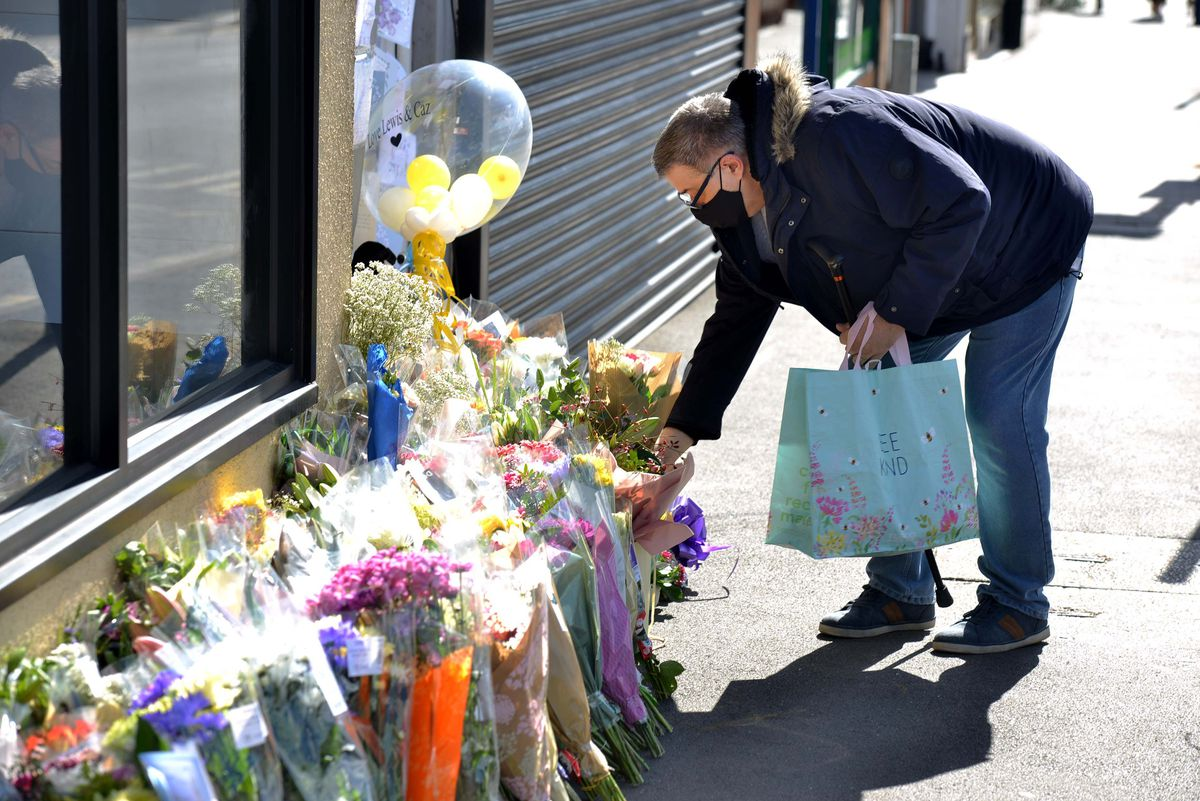Tributes are left at the scene in Brownhills