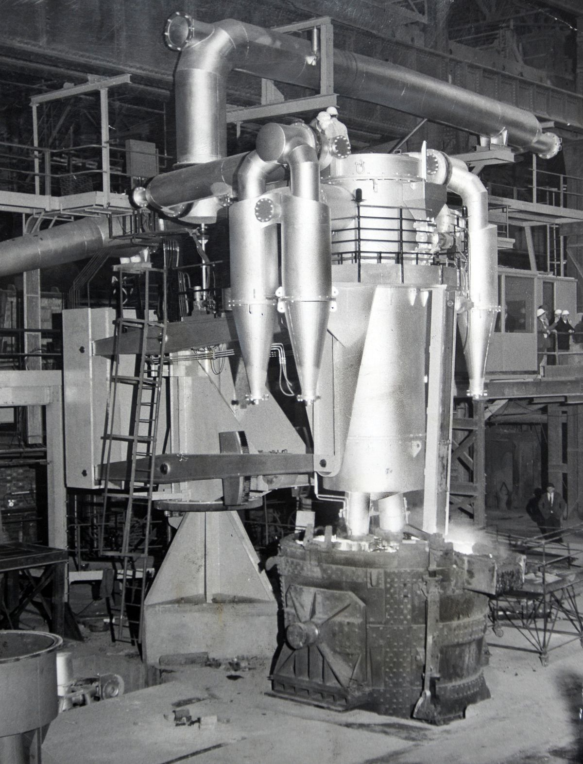 A degassing plant at Bilston steelworks, pictured in 1965