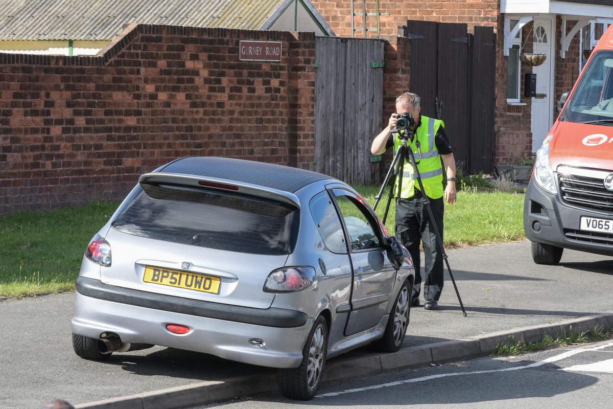 The Peugeot was abandoned on nearby Gurney Road. Photo: SnapperSK