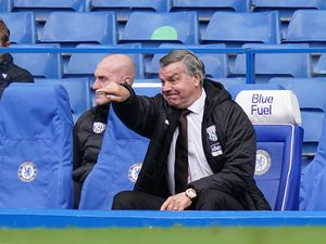 "West Bromwich Albion manager Sam Allardyce  during the Premier League match at Stamford Bridge, London. Issue date: Saturday April 3, 2021. PA Photo. See PA story SOCCER Chelsea. Photo credit should read: John Walton/PA Wire...RESTRICTIONS: EDITORIAL USE ONLY No use with unauthorised audio, video, data, fixture lists, club/league logos or ""live"" services. Online in-match use limited to 120 images, no video emulation. No use in betting, games or single club/league/player publications.."