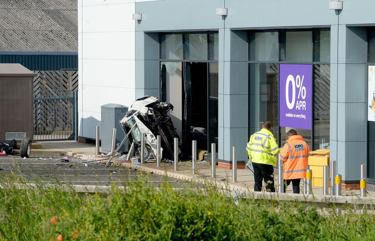 The crash happened at around 3.45am