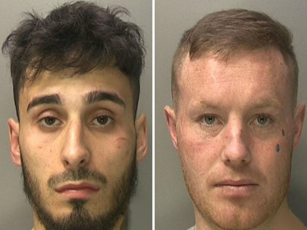 Daman Sehra, left, and Derek Brennan, right, have been convicted of murdering Amjad Khan