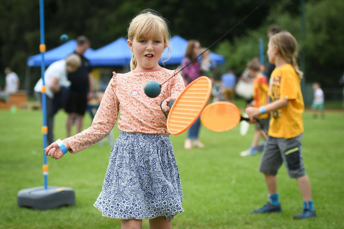 Youngsters were able to try out tennis. Picture: Richard Harris