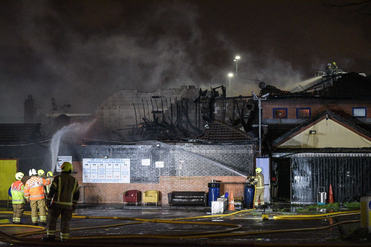 Firefighters at African Village in Perry Barr, Birmingham. Photo: SnapperSK