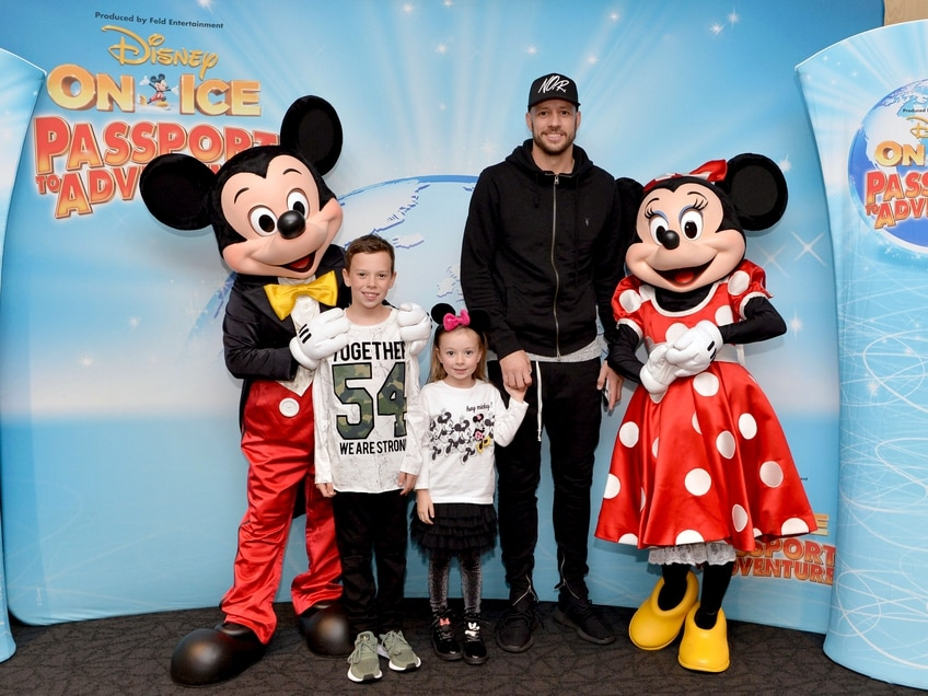 Football stars meet Mickey and Minnie ahead of Disney On Ice at Arena Birmingham - with pictures
