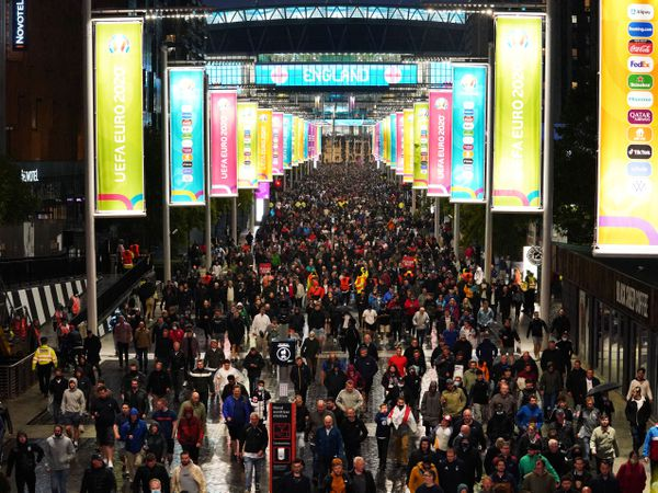Fans outside Wembley Stadium