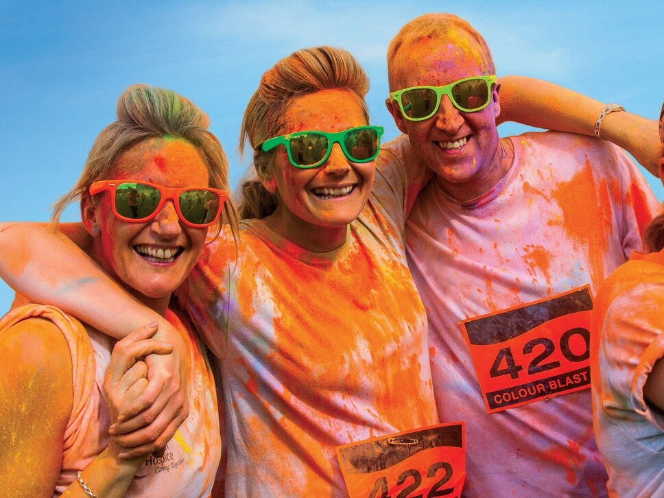 Bouncing in for a 5k blast of colour in Wolverhampton