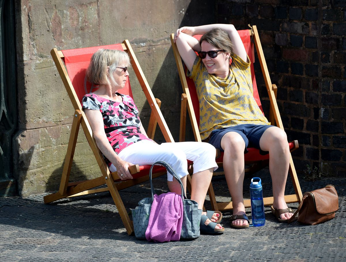 Guests enjoy the sun