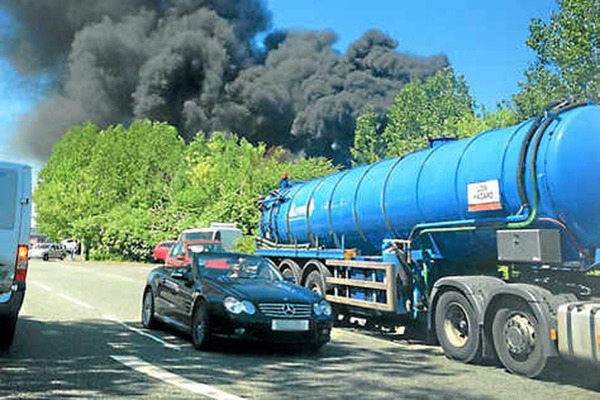 Chemical alert in West Bromwich waste plant blaze
