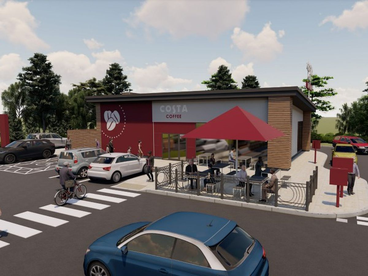 An artist's impression of the Costa Coffee. Picture: Whittam Cox