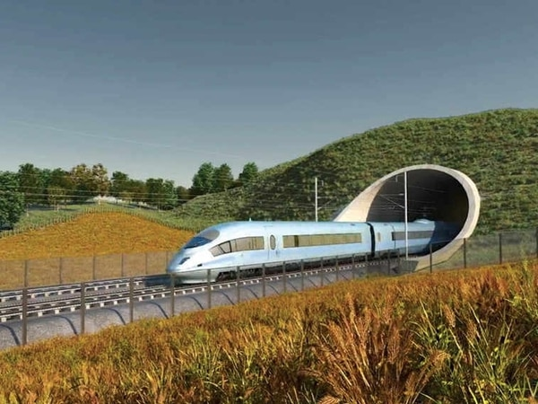 """Theresa May says her government """"remains committed"""" to delivering HS2"""