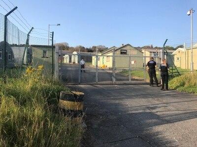 Man arrested after protests outside barracks housing Channel migrants