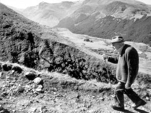 Graham Gough's picture of Black Country peace campaigner Bert Bissell making his last climb up Ben Nevis at the age of 89, taken in 1991.