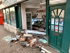 Car smashes into front of family-run butchers in Quarry Bank