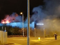 Blaze rips through Stafford Land Rover dealership