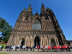 Lichfield Cathedral takes centre stage in Midland climate change protests