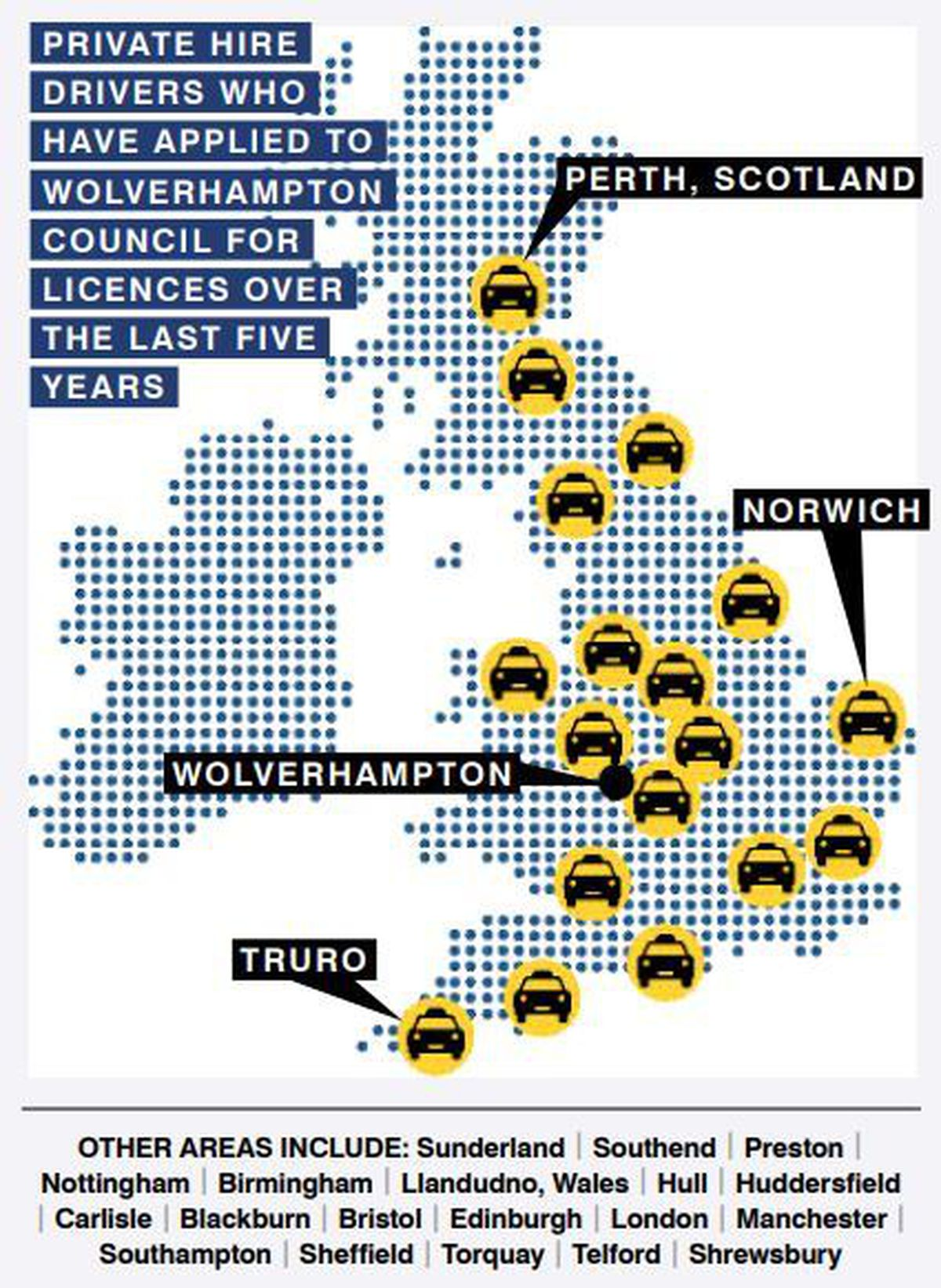 Where the taxi drivers were from