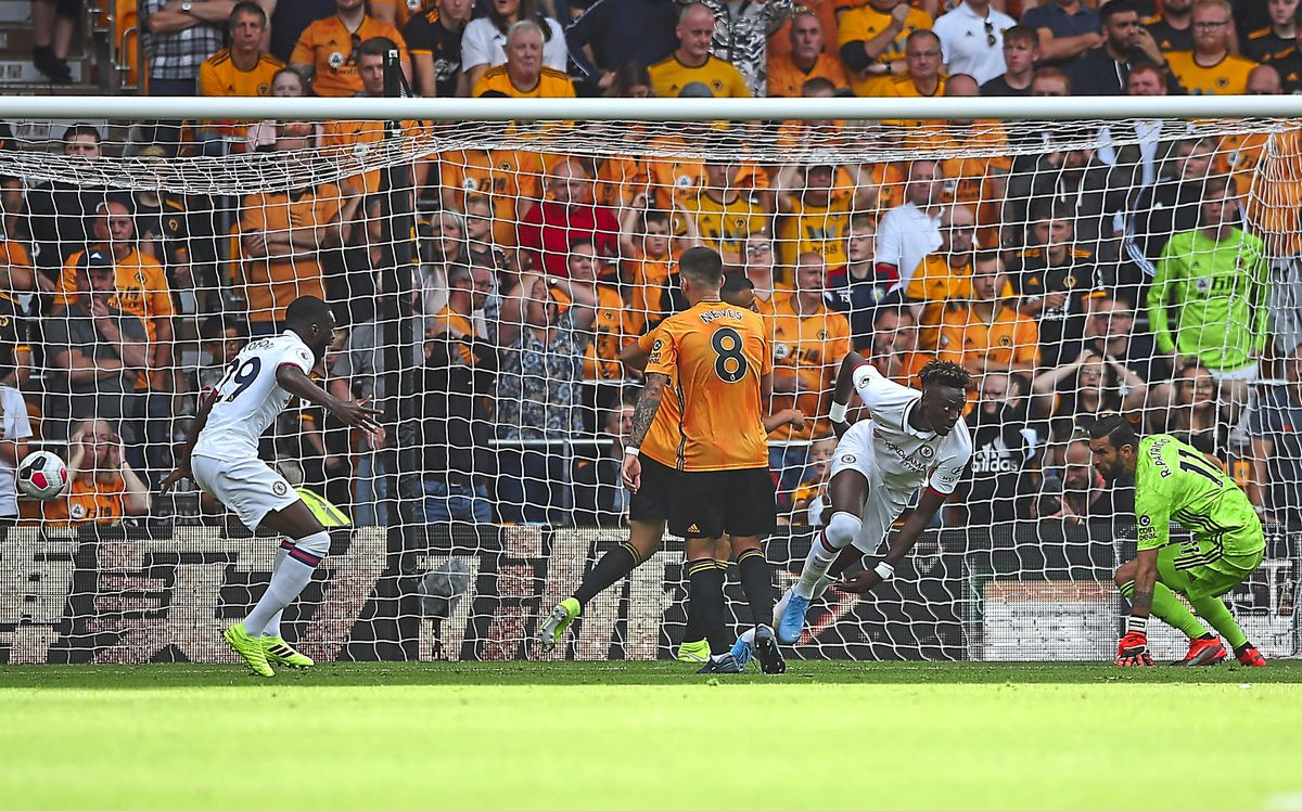 One-time Wolves target Tammy Abraham celebrates his first goal