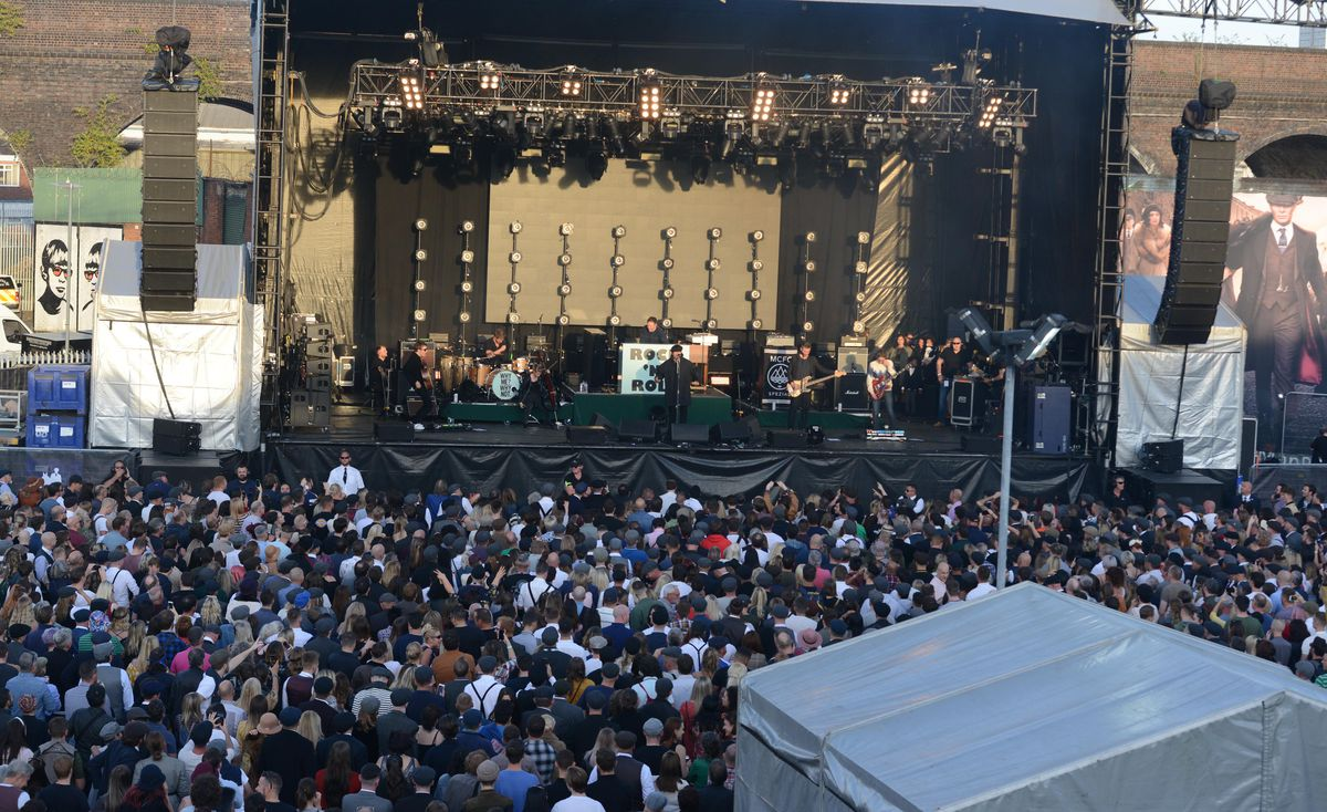 The crowd for Liam Gallagher