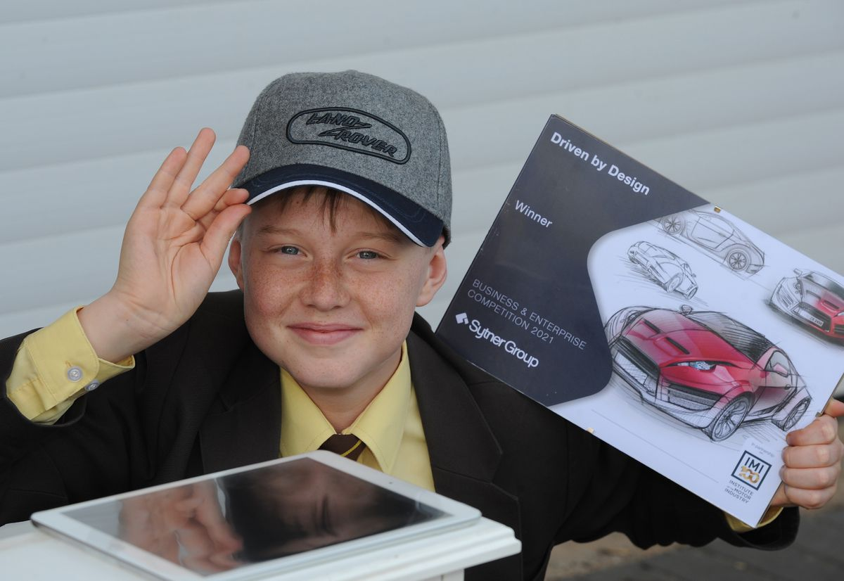 Gene Pepler, aged 13 of Blakedown, plans on doing more designing in the future after being named as one of seven winners