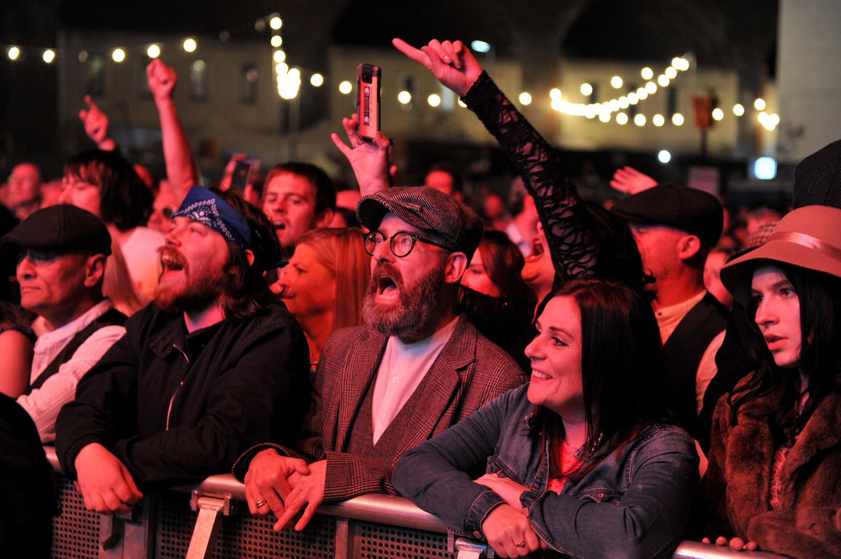 Fans watching Primal Scream