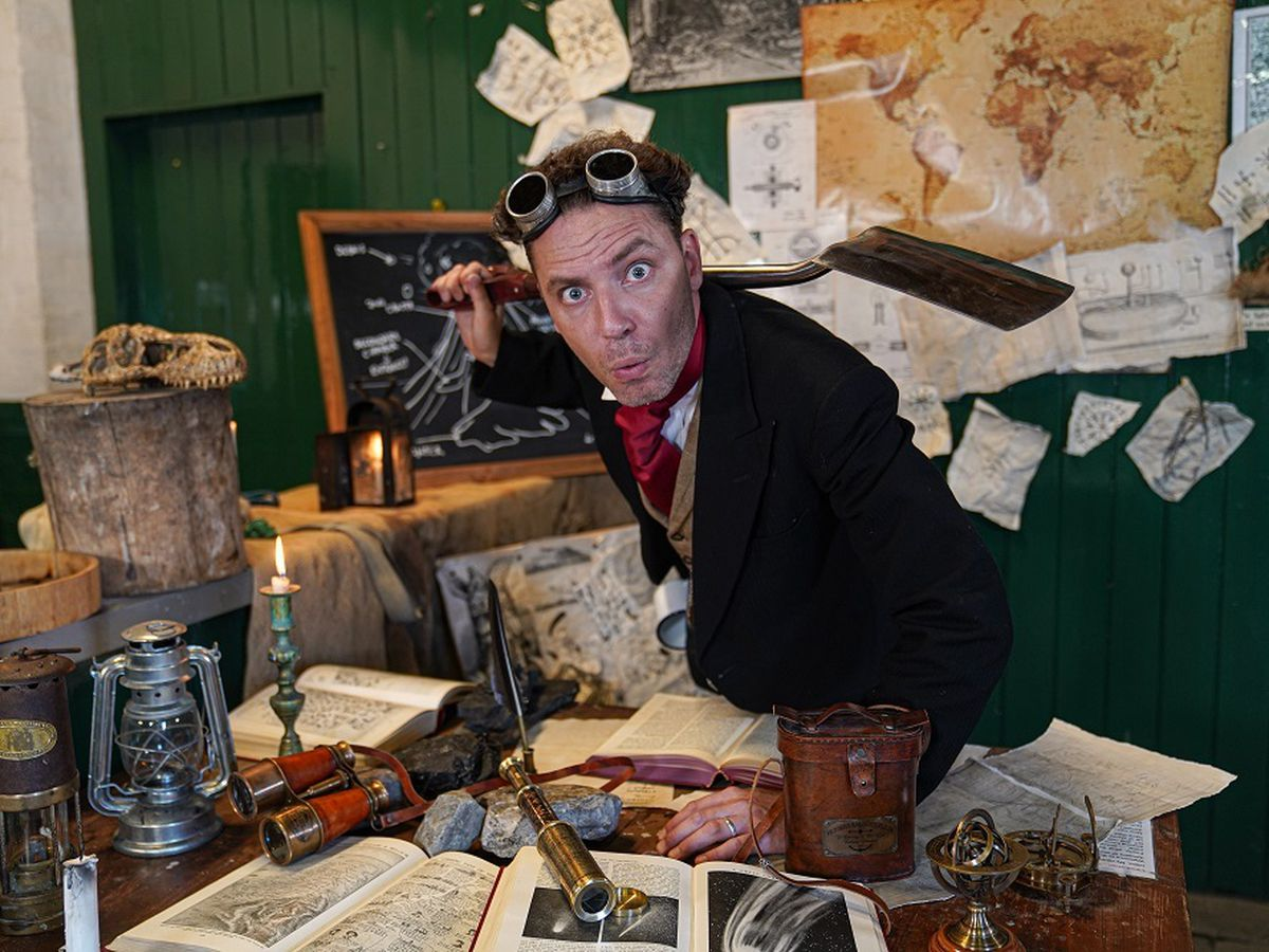 The underground explorer is one of the many characters visitors can meet during half-term