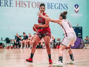 Dudley's Whitney Allen in action for Leicester Riders