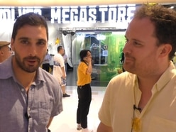 Wolves in China: Tim Spiers and Nathan Judah experience Shanghai megastore opening - VIDEO