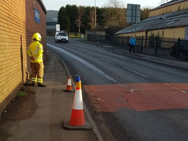 Oil spillage on almost a mile of Netherton road