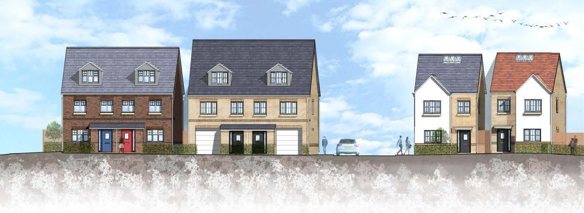 Artist's impression of homes proposed for the former Coseley Swimming Baths site. Photo: W13 Developments