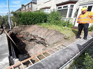 The sinkhole, which appeared in the front garden of a house in Millfield Road
